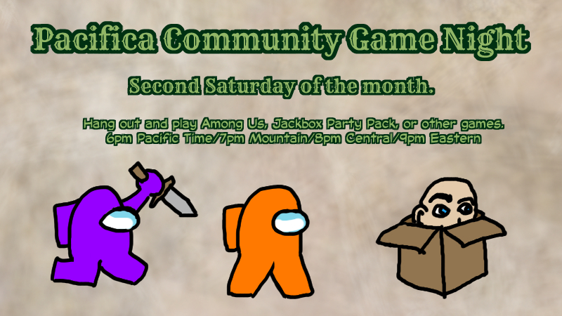 Join Pacifica Community Game Night This Saturday!
